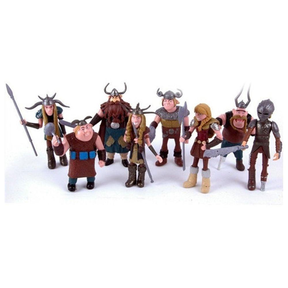 Kit 8 Bonecos Vikings Como Treinar O Seu Dragão Figu De Ação