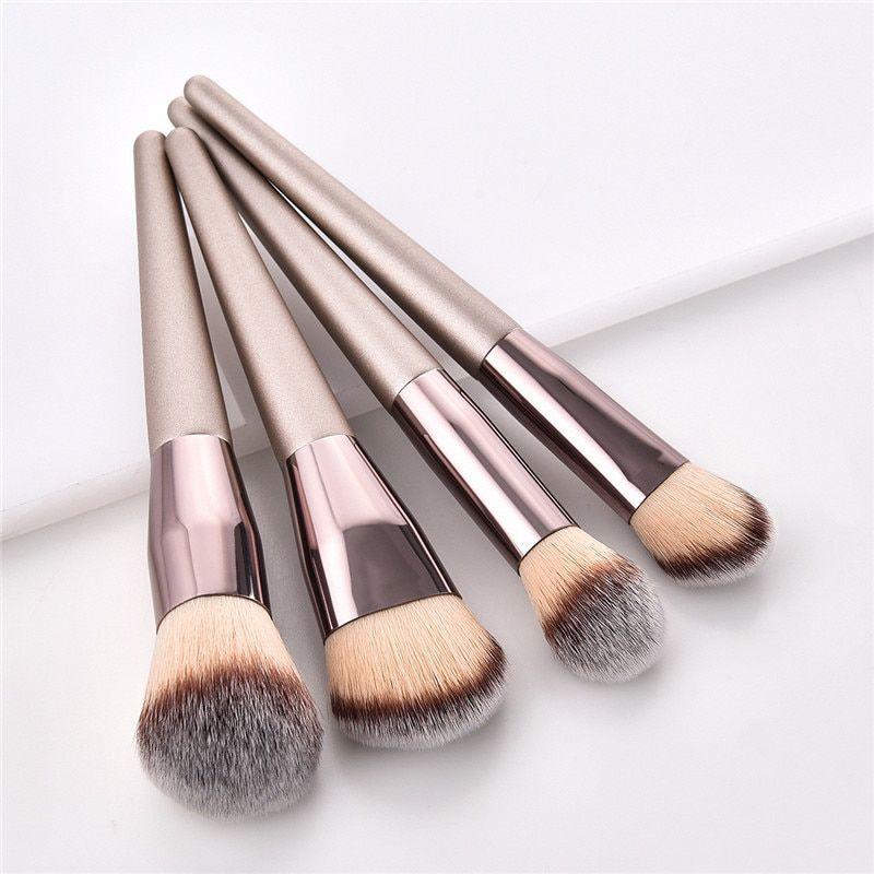 Kit 9 Pincéis Profissional Pincel Kabuki Maquiagem Brush