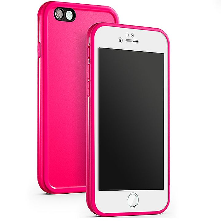 Kit Capinha Case Capa Prova Dágua Waterproof Iphone 5s Rosa
