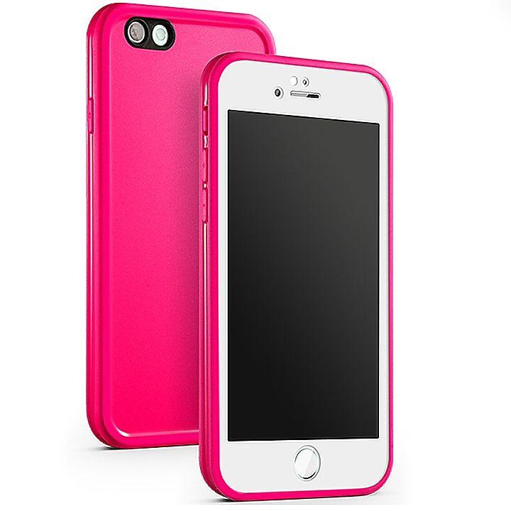 Kit Capinha Case Capa Prova Dágua Waterproof Iphone 6s Rosa