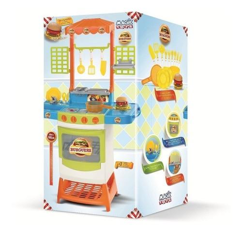 Kit Cozinha Master Burguers Pequeno Cozinheiro Infantil