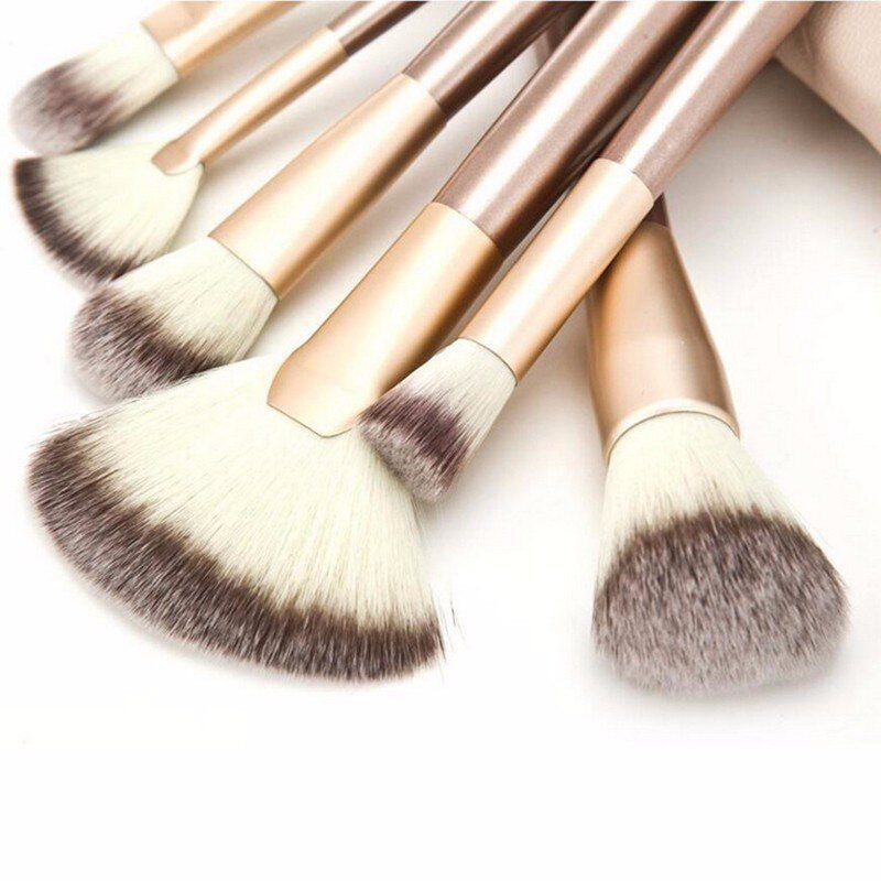 Kit De Pincel Maquiagem Profissional 18 Pcs C/estojo Pronta Entrega