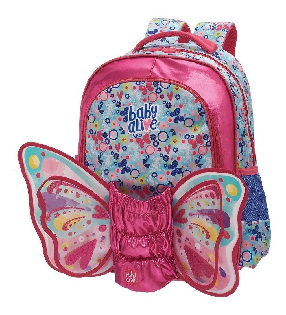 KIT ESCOLAR Baby Alive Butterfly Mochila + Estojo Promoção Pronta Entrega