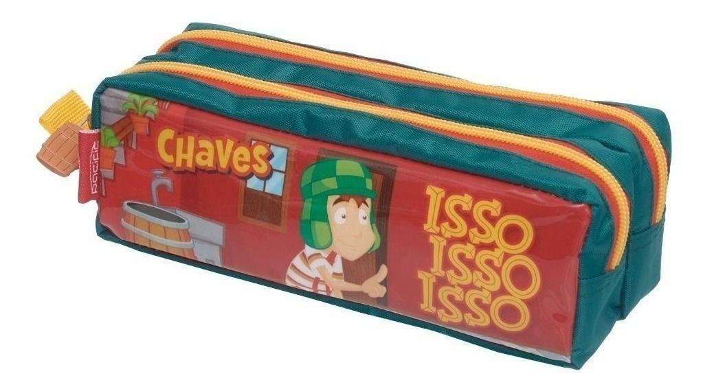 Kit Escolar Chaves Sem Querer Querendo Mochila + Estojo Duplo Pacific