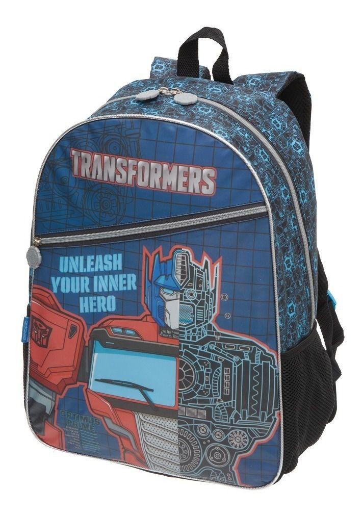 Kit Escolar Mochila Transformers Optimus Prime + Estojo