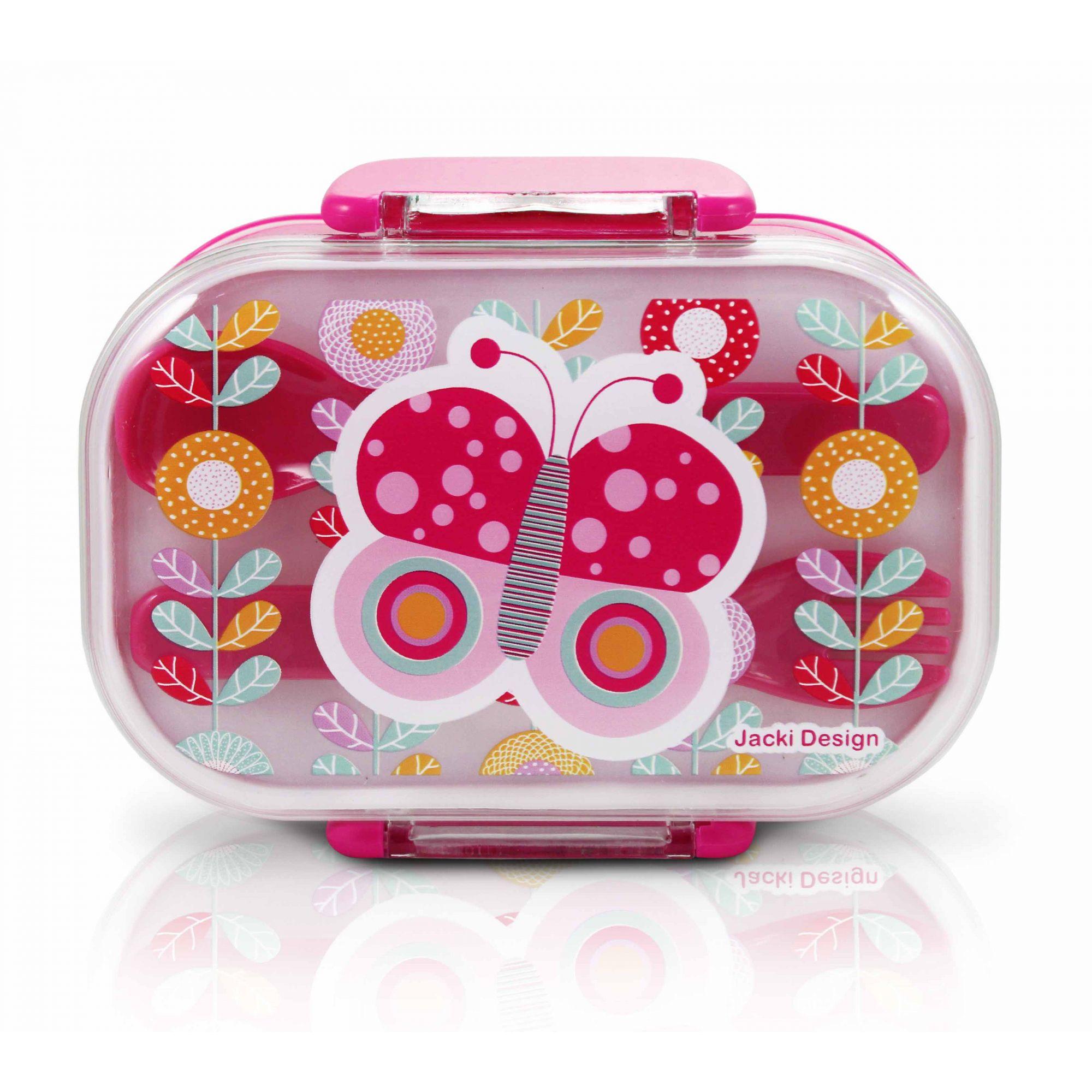 Kit Escolar Nescessair Lancheira Squeeze Meninas Infantil Jacki Design