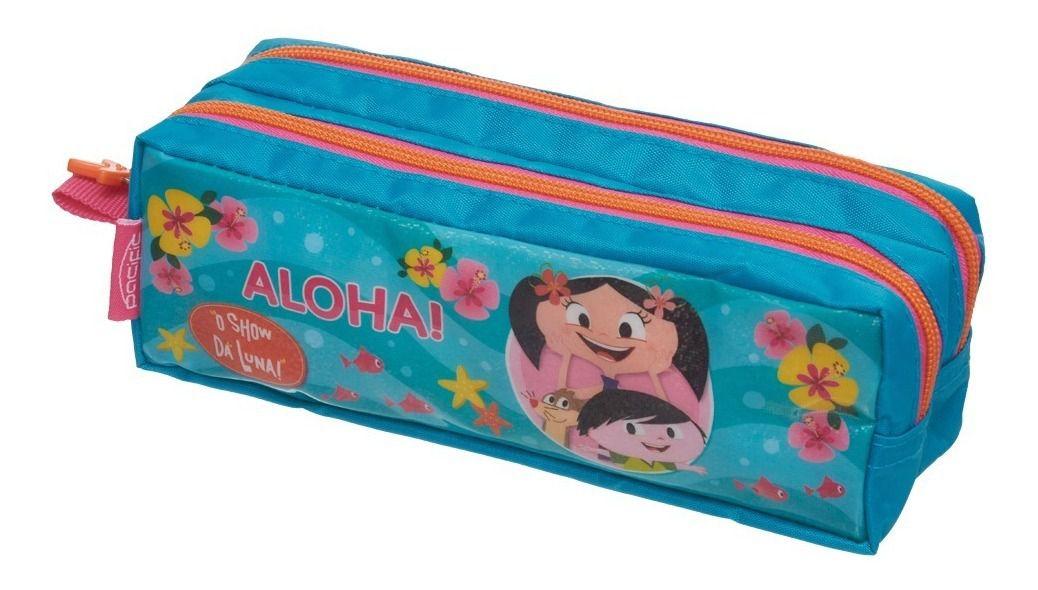 Kit Escolar O Show da Luna Aloha Mochila com Estojo Pacific Pronta Entrega