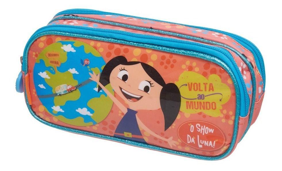 Kit Escolar O Show Da Luna Mundo Promoção Mochila + Estojo