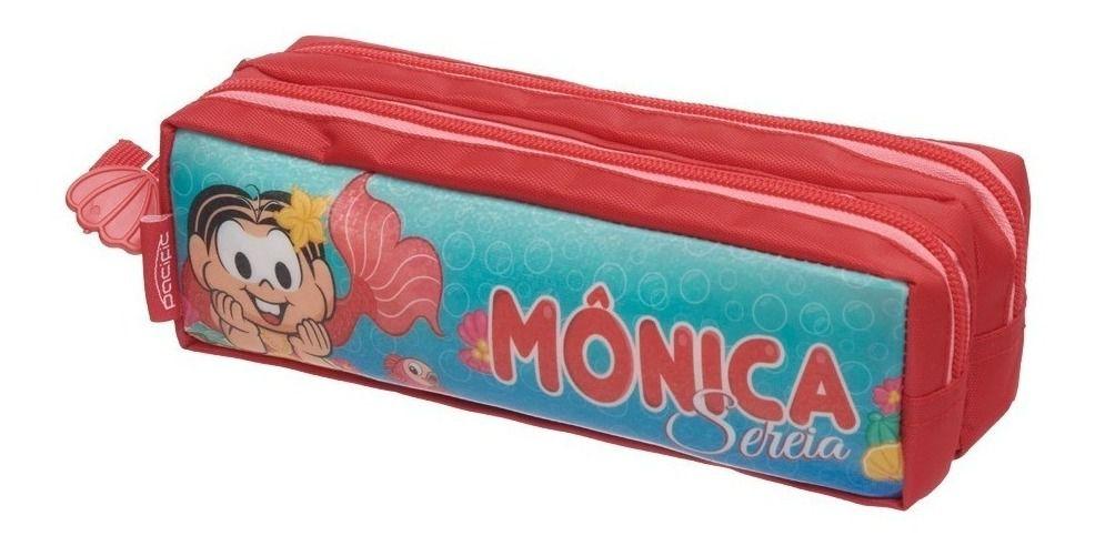 KIT ESCOLAR Turma da Monica Sereia Mochila + Estojo Pronta Entrega