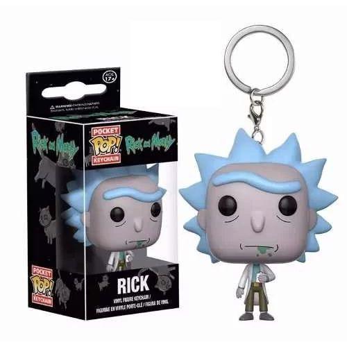 Kit Funko Pop - 2 Chaveiros Rick E Morty - Pocket Pop! Funko