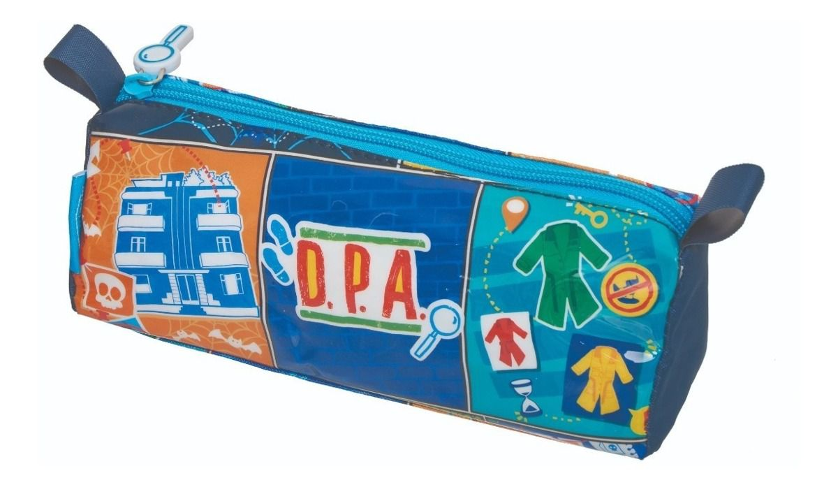 KIT MOCHILA ESTOJO DPA HQ BOYS PACIFIC Detetives do Prédio Azul Promoção Barato