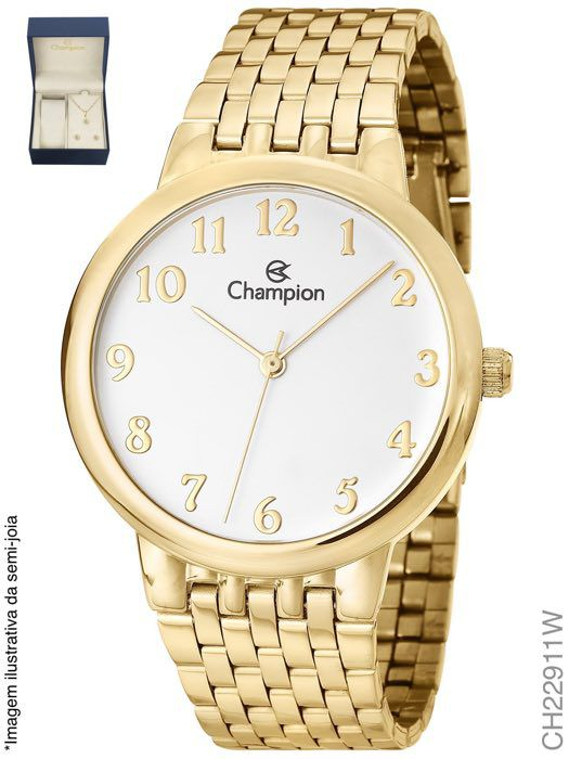 Kit Relógio Champion Feminino Social CH22911W