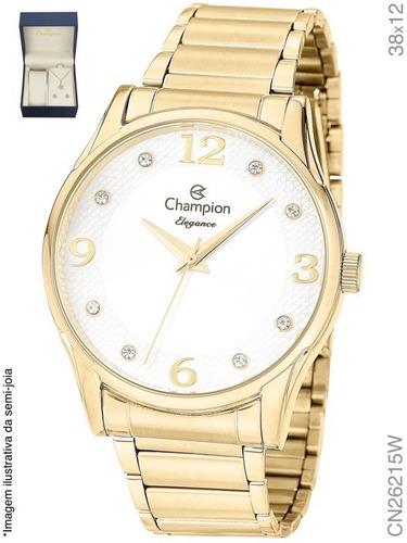 Kit Relógio Feminino Champion CN26215W Dourado
