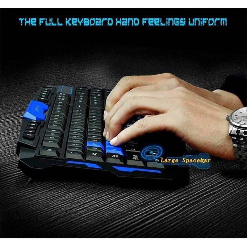 Kit Teclado Mouse Gamer Sem Fio Wireless 1600 Dpi Jogos K134