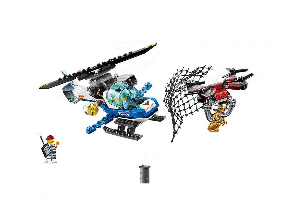 Lego City 60207 Polícia Aérea - Perseguição De Drone 192 Pçs