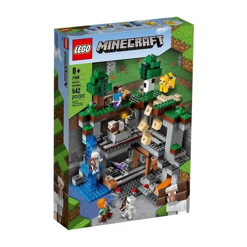 Lego Minecraft A Primeira Aventura 542 Peças 21169 Original