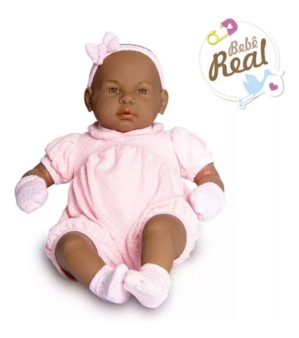 Linda Boneca Bebê Real Negra Estilo Reborn Roma Jensen