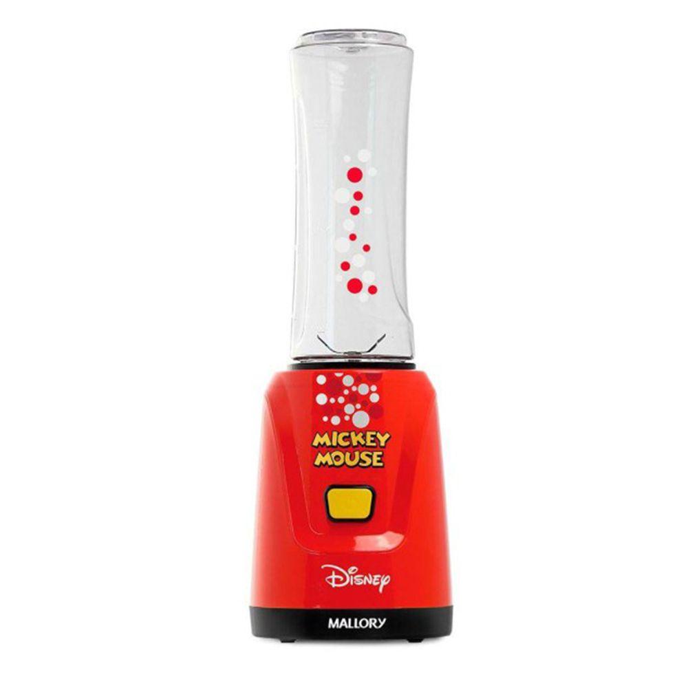 Liquidificador Portátil Mickey Disney 600ml 2 Copos C/ Tampa Mallory