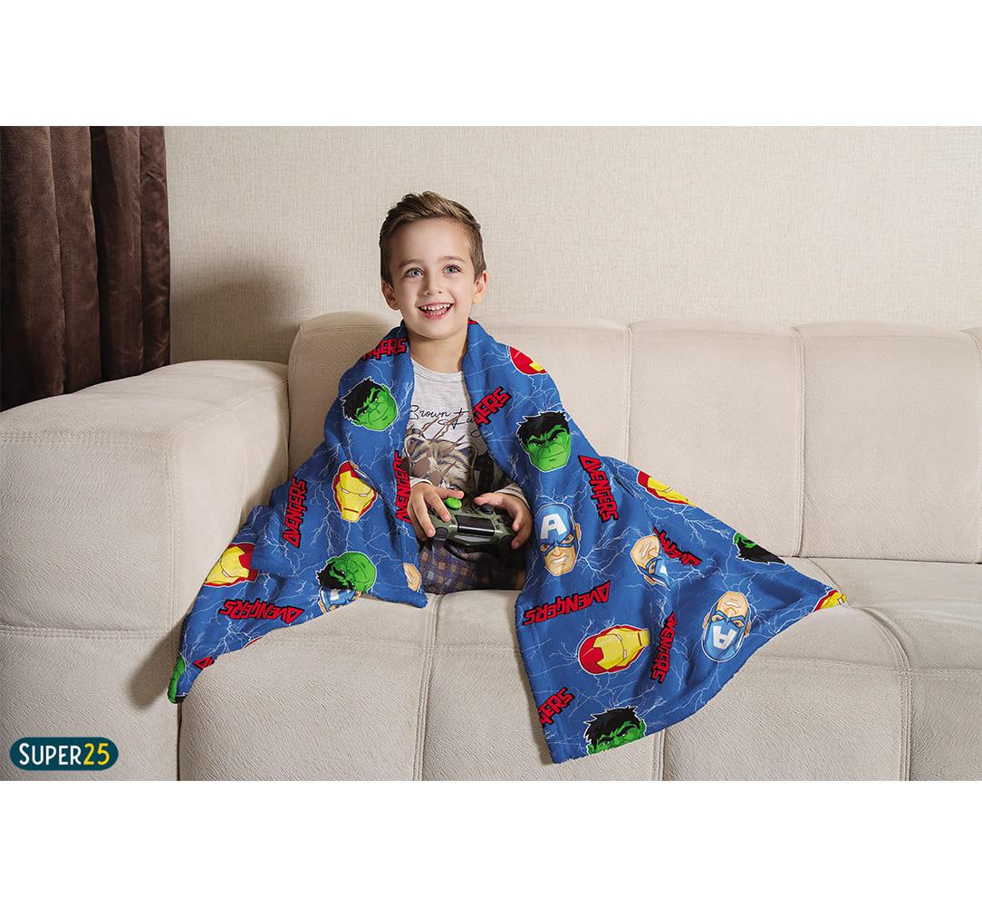 Manta Fleece Infantil Microfibra Diversos Personagens Lepper