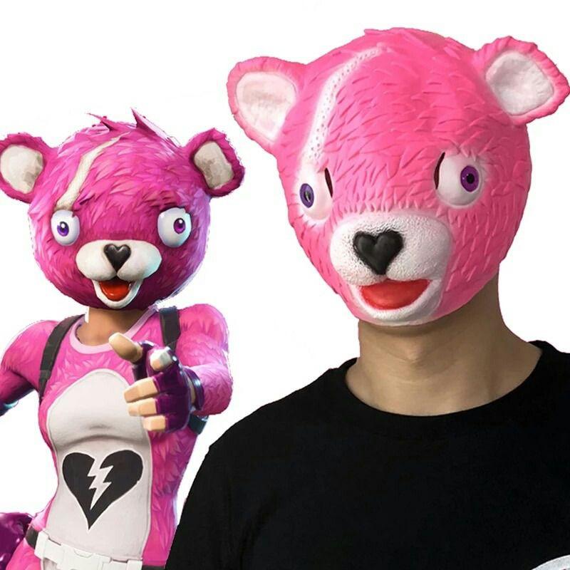 Mascara Cosplay Game Fortnite Cuddle Team Pronta Entrega