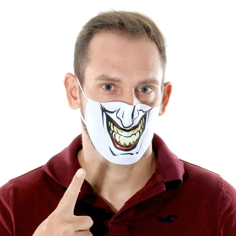 Mascara De Proteção Lavável Não Descartável Tecido Divertida