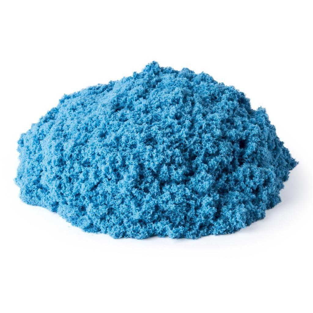 Massa Areia Azul Neon 141g Com Molde De Castelo Kinetic Sand