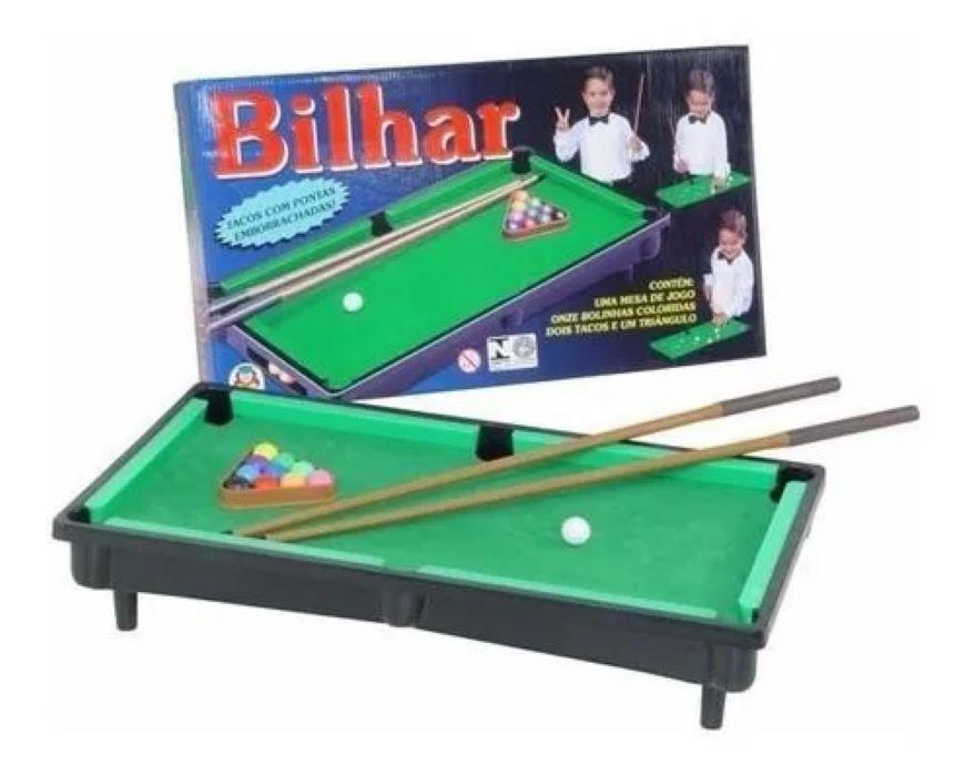 Mesa De Bilhar Snooker Infantil Sinuca Braskit Criança