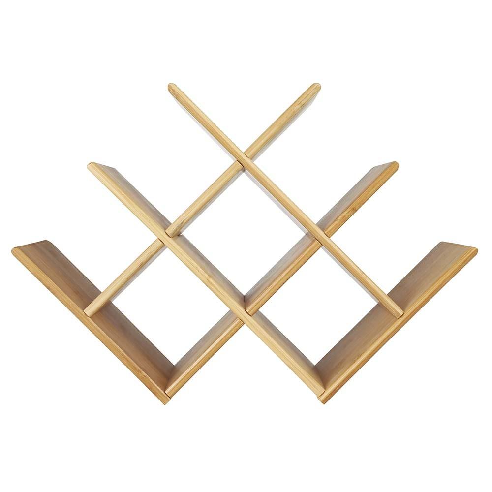 Mini Adega Rack Porta 8 Garrafas De Vinho Bebidas Em Bamboo