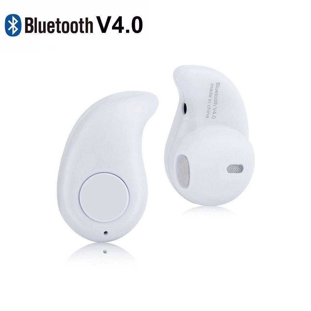 Mini Fone De Ouvido Sem Fio Bluetooth V4.0 Micro Menor Do Mundo Branco