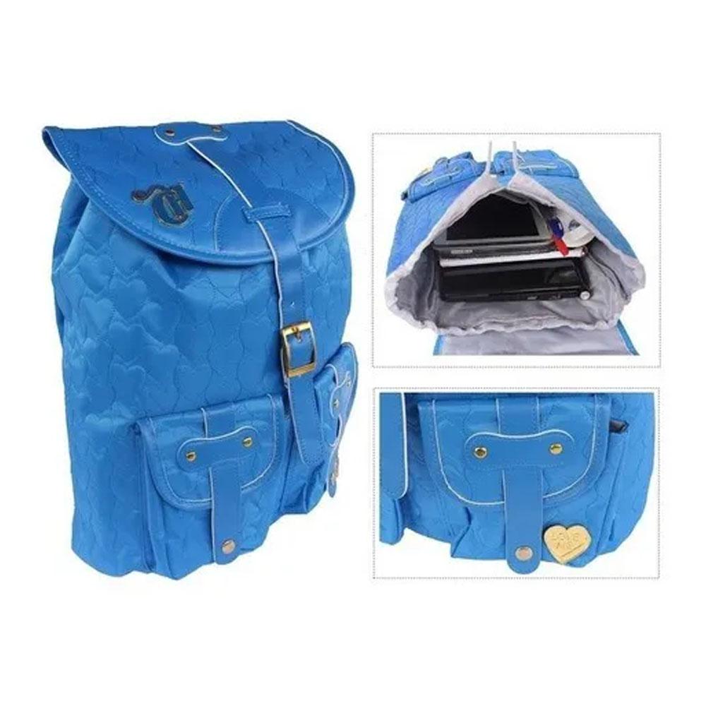 Mochila Capricho Love Azul 10970 Blue Escolar