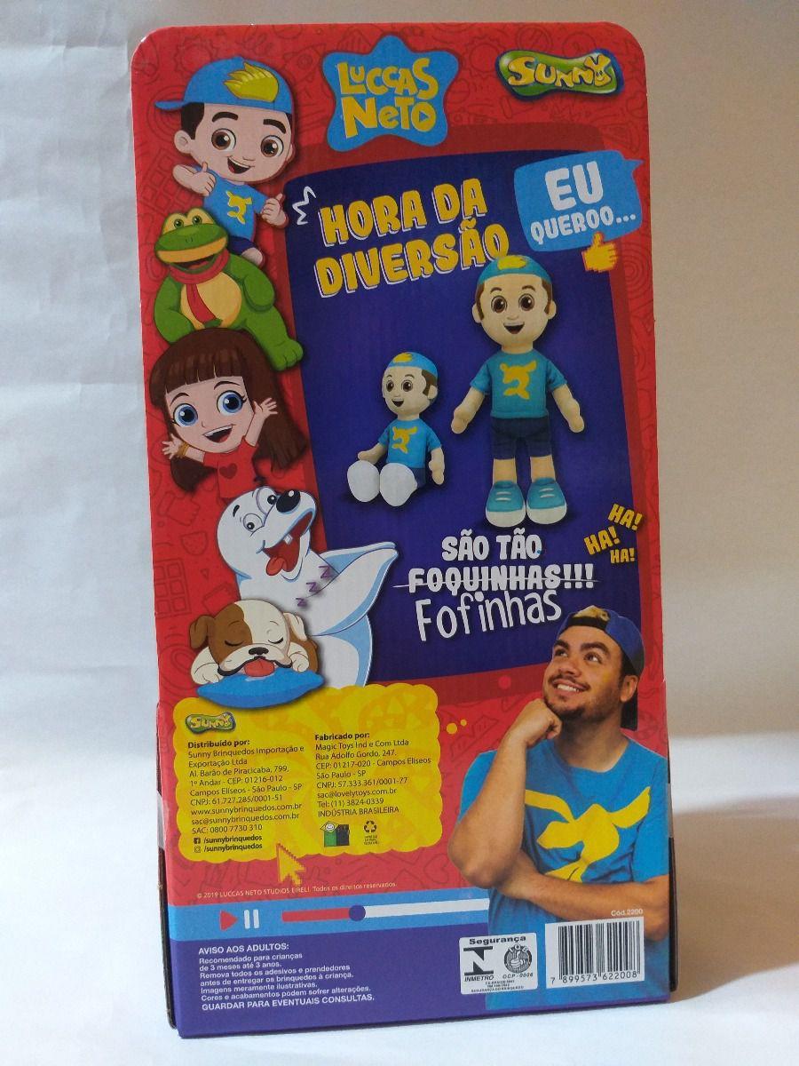 Pelúcia Boneco Luccas Neto Hora D Diversão Original Sunny 45
