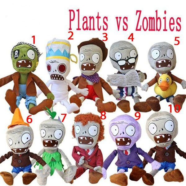 Pelúcias Zumbis - Plants Vs Zombies - Tamanhos Grandes 30 Cm