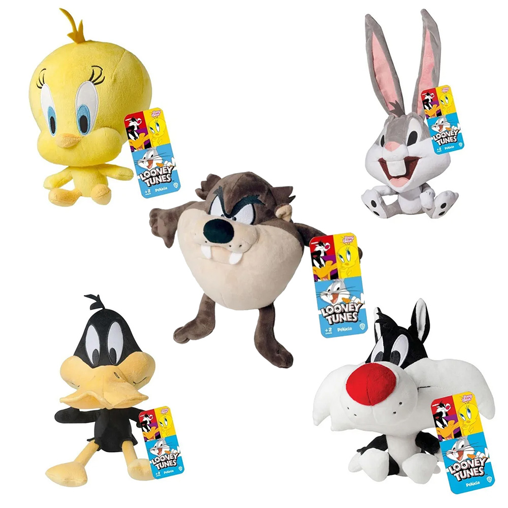 Pelúcia Looney Tunes Taz Pernalonga Patolino Babybrink