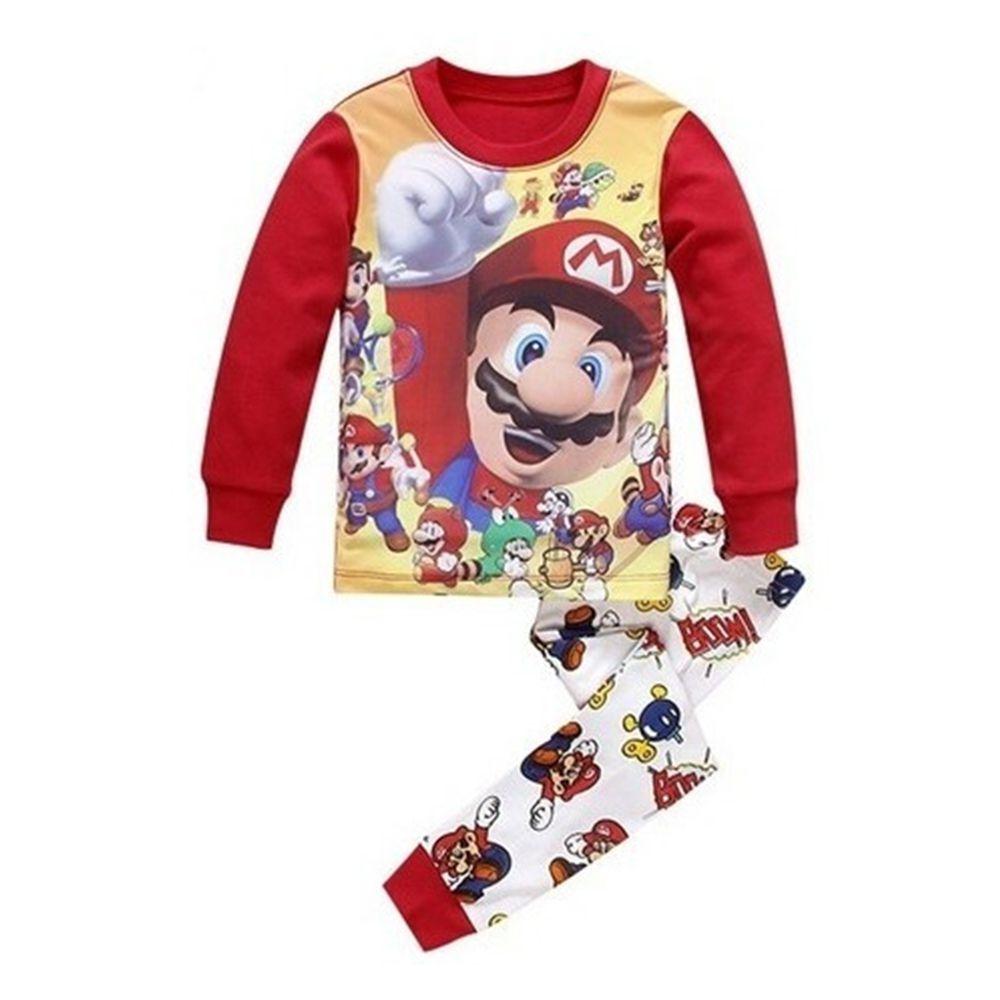 Pijama Infantil Super Mário Bros Algodão Conjunto Nintendo