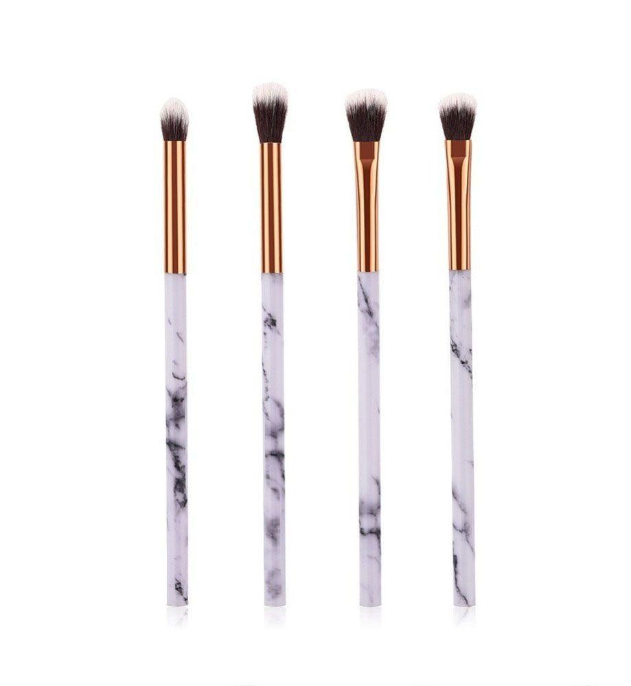 Pincéis Maquiagem Kit C/ 4 Pinceis Marmore Pincel Makeup