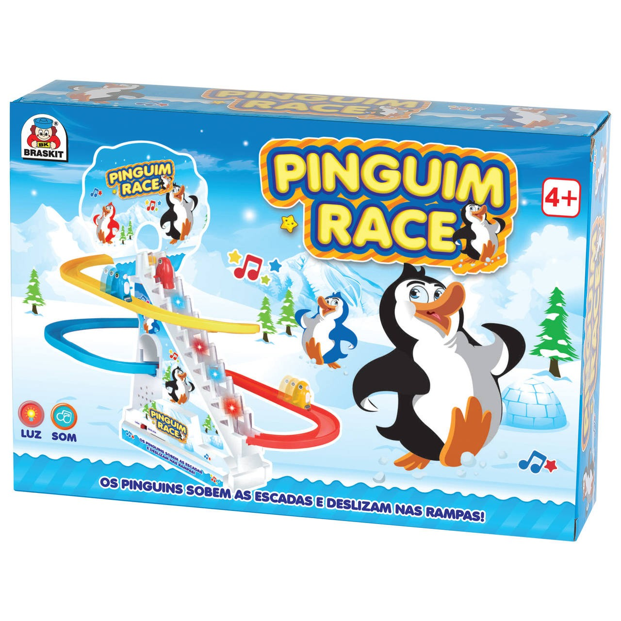Pinguim Race - Com Luz E Sons! - Braskit