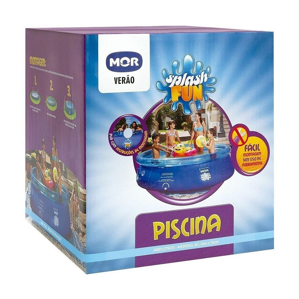 Piscina Redonda 3400 Litros Inflavel Splash Fun Mor
