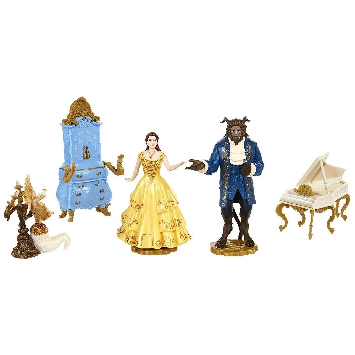 Play Set Bela E A Fera Com Figuras Vinil Domo Disney Sunny