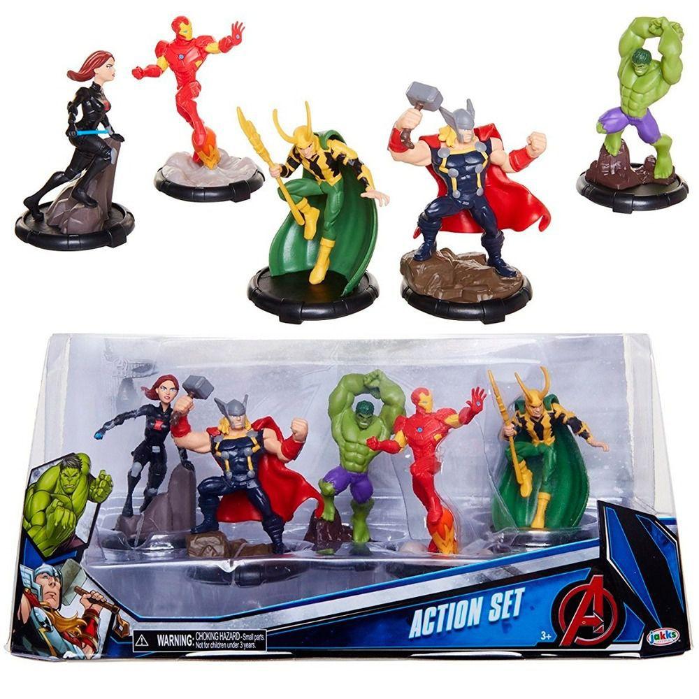 Play Set Thor Hulk C/ 5 Bonecos De Vinil Domo Marvel Sunny