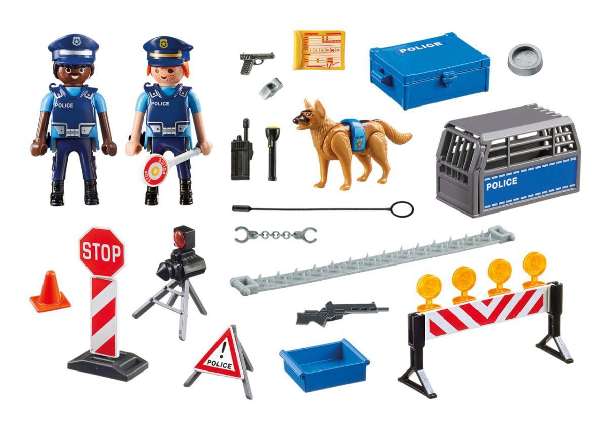 Playmobil 6924 - Unidade Policial De Bloqueio Com Cães