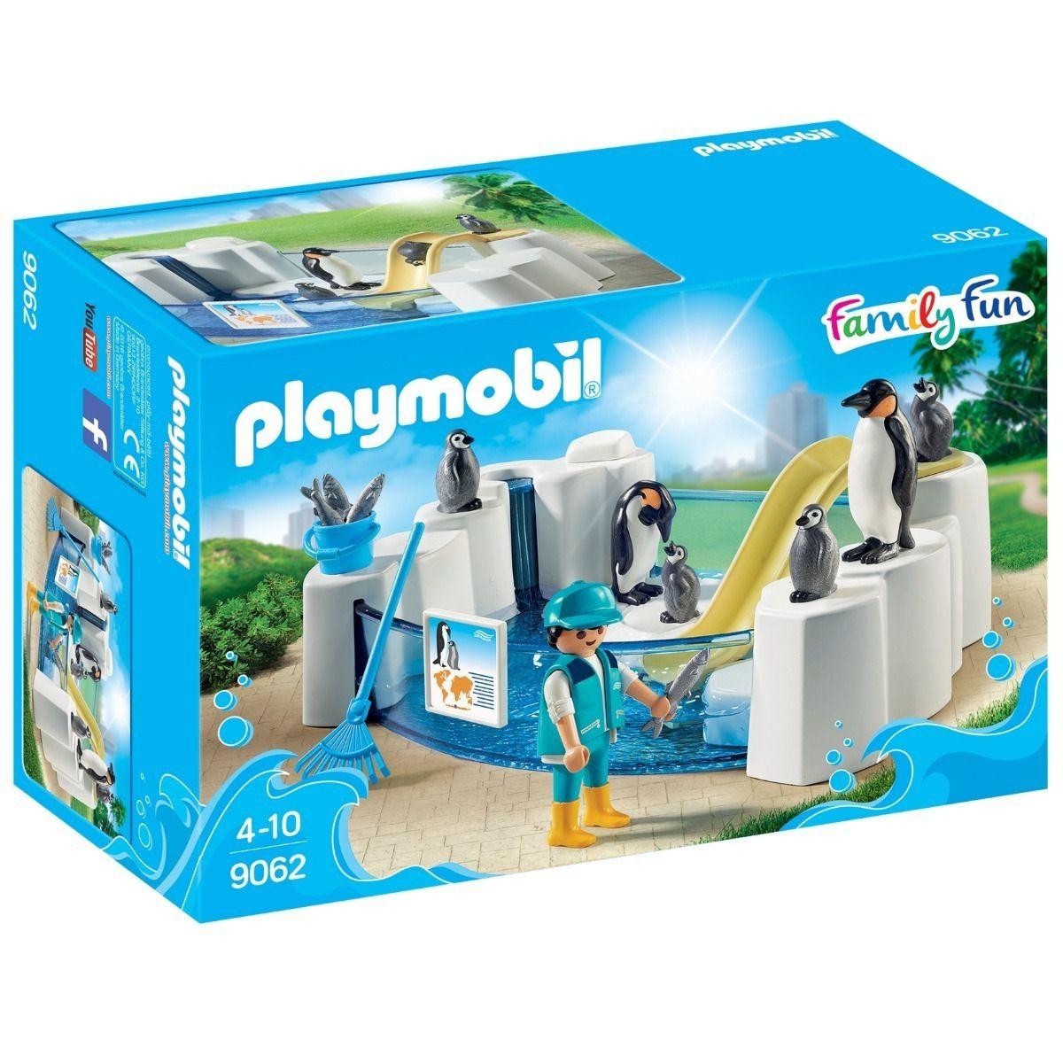 Playmobil Aquário Piscina Dos Pinguins Pinguinário 9062