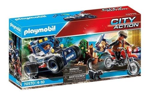 Playmobil Carro Off-Road Da Polícia Com Bandido 2555
