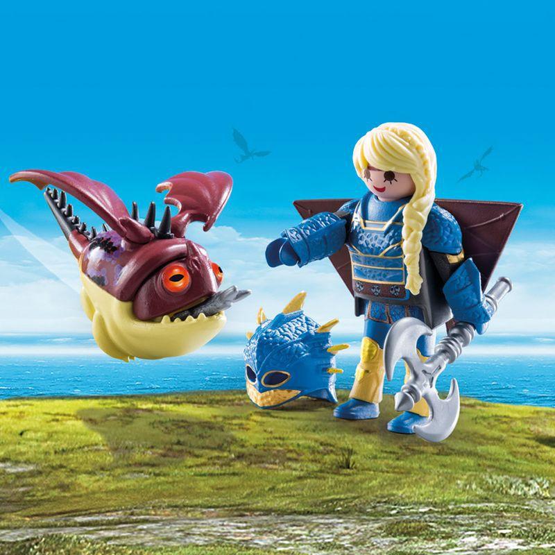 Playmobil - Como Treinar Seu Dragão 3 - Astrid e Hobgobbler - 70041 - Sunny