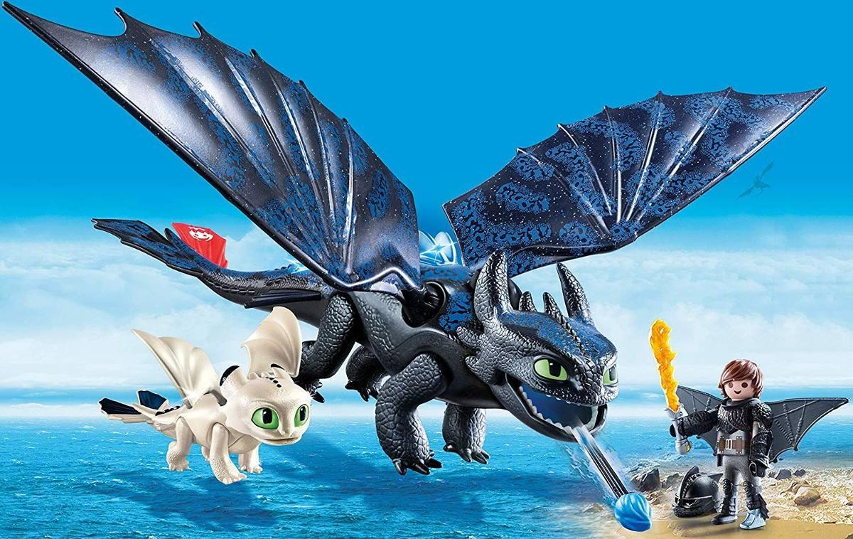 Playmobil Como Treinar Seu Dragão 3 Soluço, Banguela E Bebê