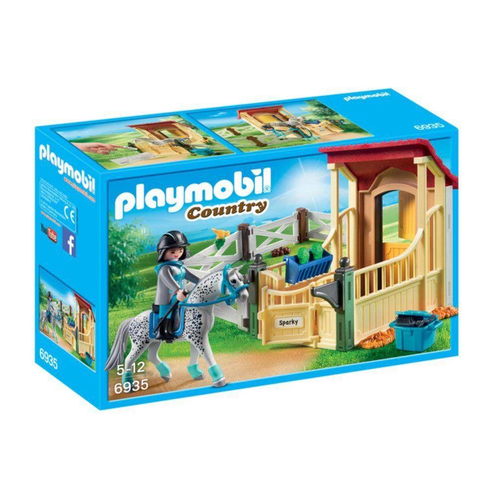 Playmobil Country Cavalo Apaloosa Com Estábulo Sunny 6935