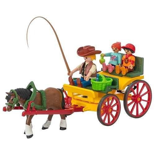 Playmobil Country - Charrete Com Cavalos - Sunny
