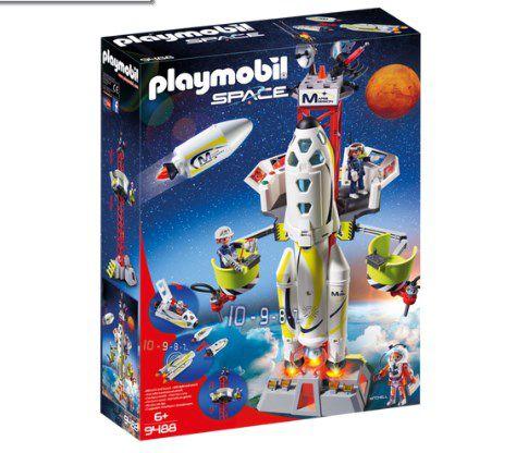 Playmobil Foguete de missão com satélite de lançamento