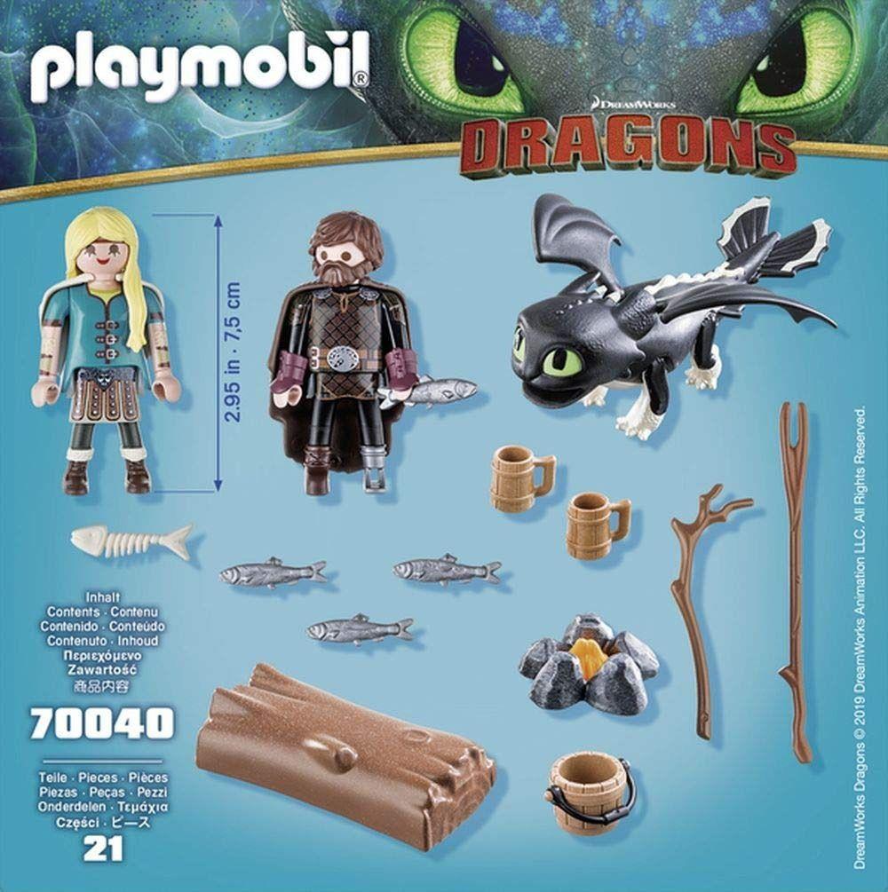 Playmobil Treinar Seu Dragão Soluço Astrid Com Bebe Dragão