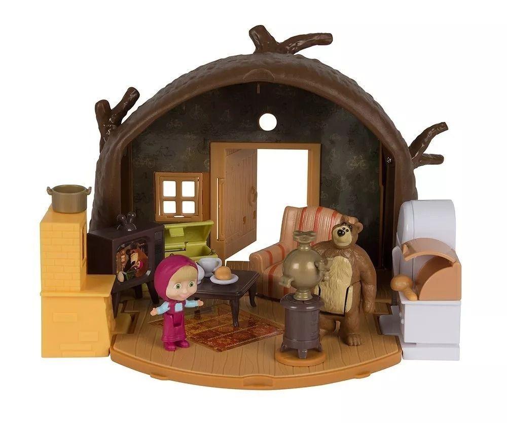 Playset Da Casa Do Urso - Masha E O Urso - Original Sunny