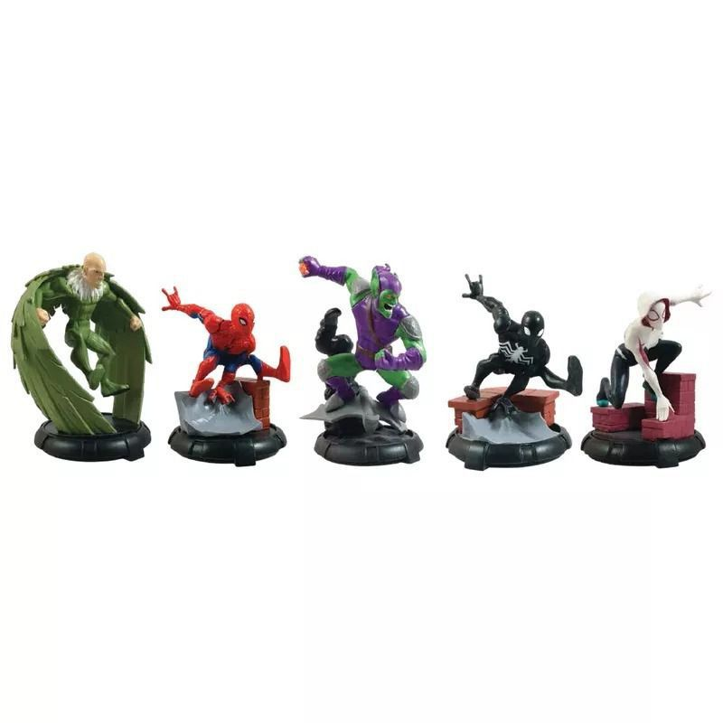 Playset Homem Aranha Domo 5 Boneco Figuras Vinil Orig Sunny